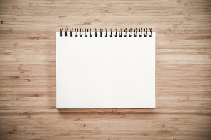 start with a blank page
