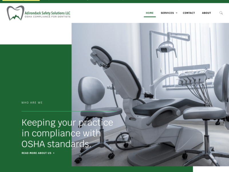 Adirondack Safety Solutions - Logo, content and web design