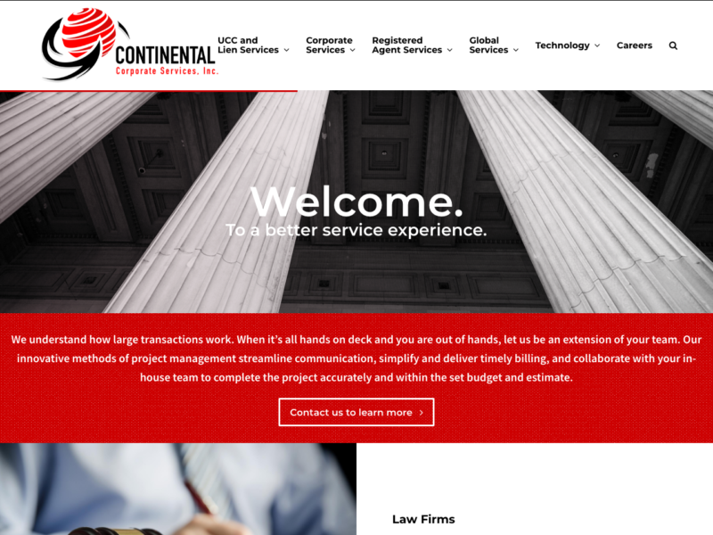 Continental Corporate Services, Inc. - Web design, content creation, blog writing services.