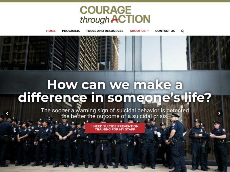 Courage Through Action - Logo, Content, website design