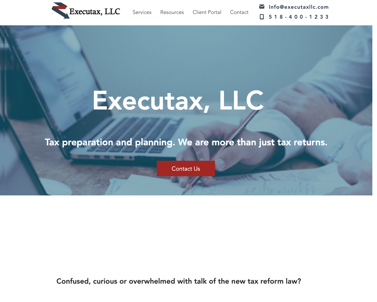 Executax, LLC - Web design, content creation