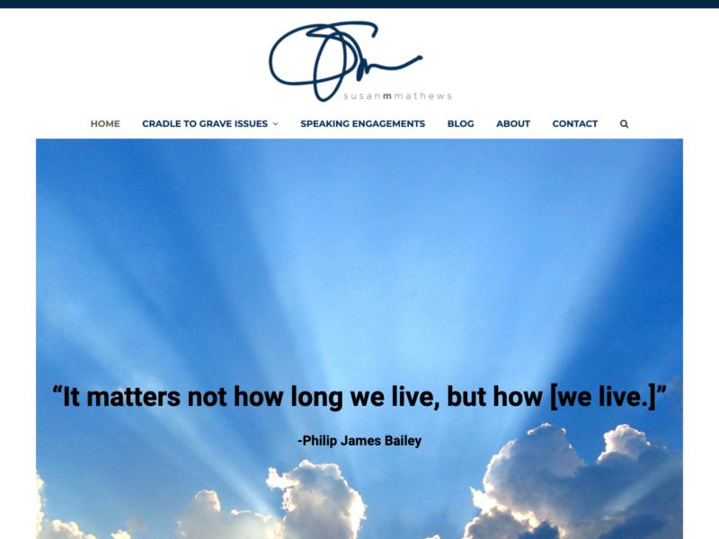 Susan M Mathews - Web design, content creation