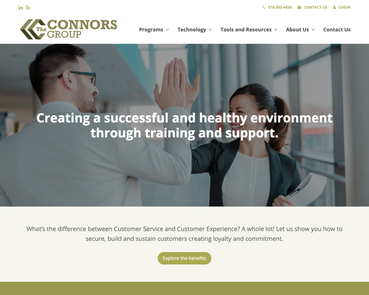 The Connors Group - Web design, content creation